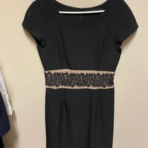 The Limited Black Dress with Lace Detail